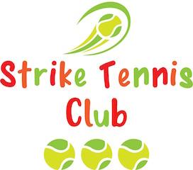 Strike tennis club logo